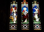 Stained glass window in the church
