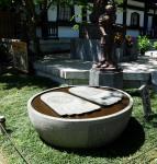 Stone feet in the temple garden